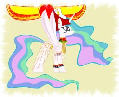 Princess Celestia Egyptian by GennadyKalugina