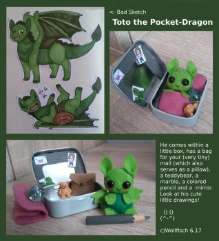 Toto the pocket dragon by Wollfisch