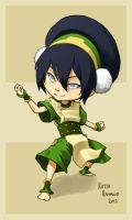 Chibi Commission: Toph by MagpieFreak