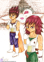 Teen Vegeta and Teen Articha by xChika-ChanxXXxSurex