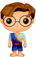 Funko Pop Fan Art- Atlantis- Milo Thatch 2 by CSF-Designs