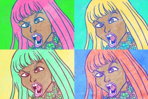 Nicki Minaj x 4 by Yamino