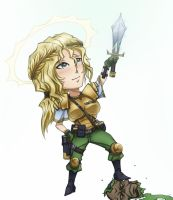 Chibi zombie slayer by Kain-Moerder