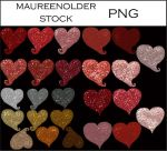 STOCK PNG Hearts a many by MaureenOlder