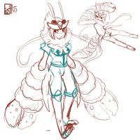 White Knight Crab :WIP by Kinla