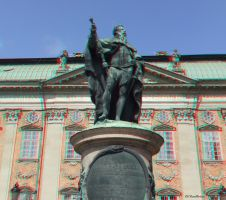 Stockholm King Gustav anaglyph by passionofagoddess