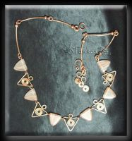 Triangle wire necklace by Fawkesgirl