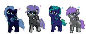Star Drop x Blue Blazes offspring (open) by Puccawitch