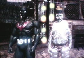 Batman Arkham City: A Picture With The Bat by TheRumbleRoseNetwork