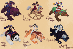 Sejuani skins that will never happen ver 8 by Hyper-Stan