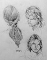Artist Workout 18: Hair Study by whoopzdaisy