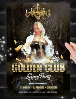 Golden Club Party Flyer Template by jellygraphics