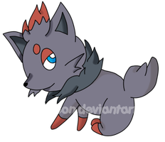 Zorua--Zoroa .:COLOR:. by LadyZiodyne