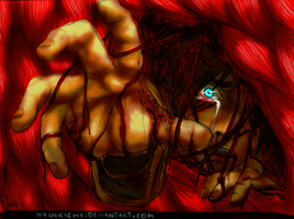Let me out!! - Eren Jaeger (Colored!) by Nyankichi