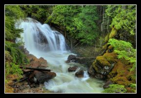 Waterfalls in HDR 2 by MyEnchantedForest