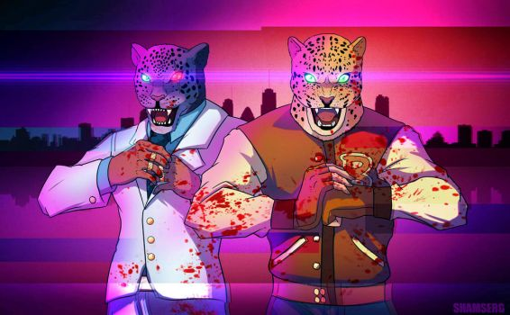 Hotline Miami X Tekken by shamserg