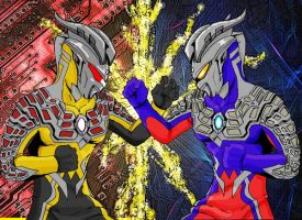 Ultraman Zero vs Darclops Zero by Jason-FH-Art
