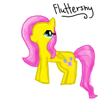 Fluttershy Fanart - My Little Pony by Japanzii