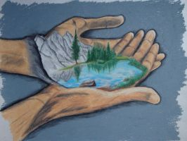 Hands of Nature... by OneWithMyself