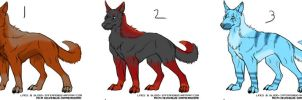 3 Wolves Auction closed by Leland-Adopts
