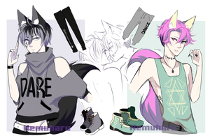 |CLOSED| Yaoi Couple |Adopt Auction [AB ADDED] by Nemuharu