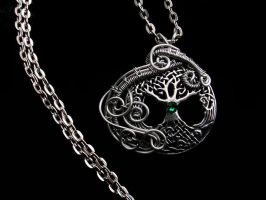 Celtic Tree Of Life - Wire Wrapped Pendant by LadyPirotessa