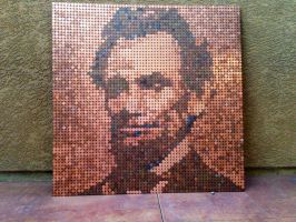 LINCOLN WITH PENNIES by alanreid