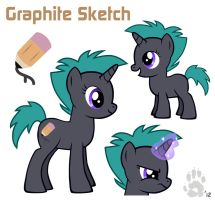 MLP OC: Ref Sheet- Graphite Sketch by CanineHybrid