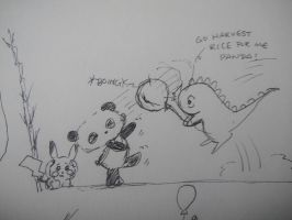 Dino and Panda Fight epi 1 by MelodicInterval