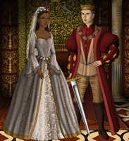 Arthur and Gwen's wedding by SingerofIceandFire