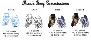 Pony Commission Info | Closed by 14th-Crown