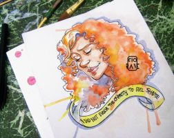 Freddie Lounds (watercolor) by Ciorane
