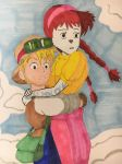 Castle in the Sky: Tallylu and Matt by madiquin185