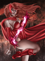 Scarlet Witch by BornTewSlow