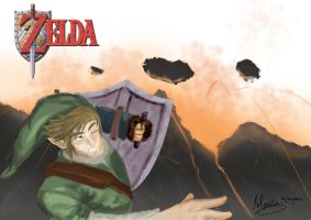 Link and The Death Mountain by BrainboxMedia