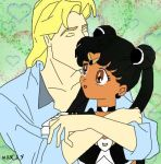 Black Sailor Moon and John Smith by mssConstance15