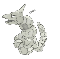 Kanto no. 095 Onix by Randomous