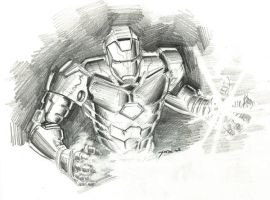 ironman sketch by yosse