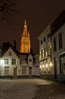 Brugge by night in the snow 003 by Constant-Wegman