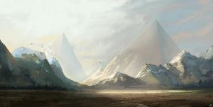 pyramid mountains by jamga