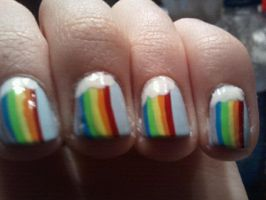 Rainbow Nail Art by TheNailFile