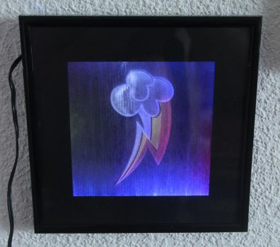 Rainbow Dash Cutie Mark -Multi-colored LED Picture by steeph-k