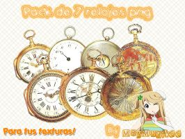 Pack de Relojes Png by MayMugiLee