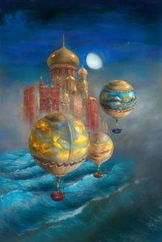 Ballooning in Liesel City Midnight by ValentiniaK