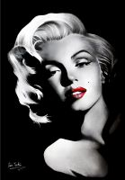 Marilyn Monroe by Liam York by MrYorkie