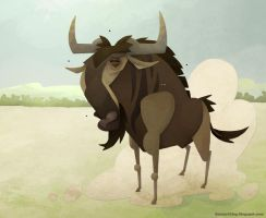 Wildebeest by WonderDookie