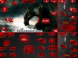 Ravenous Desktop for Rainmeter by ionstorm01