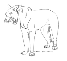 Angry wolf- free lineart by Allentia