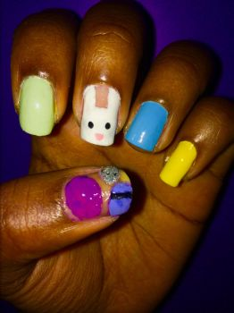 Easter Nails by MissBeatle24
