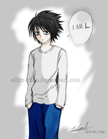 Death Note: L color by Eilyn-Chan